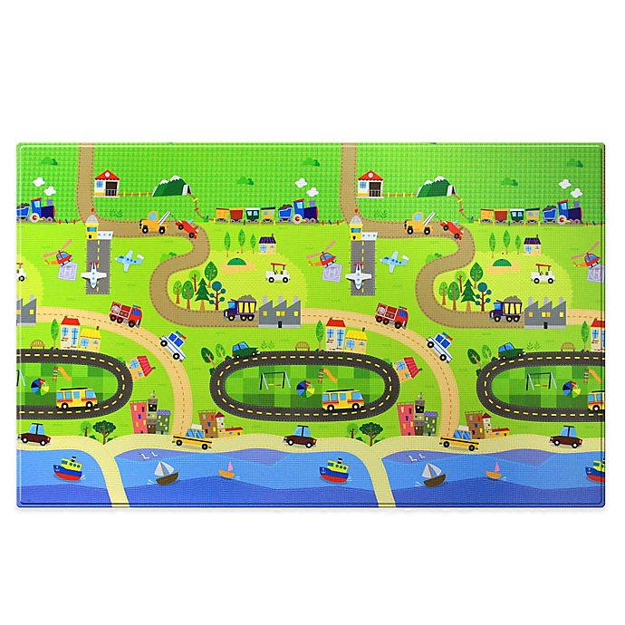 Alternate image 1 for BABY CARE™ Large Baby Play Mat in Happy Village