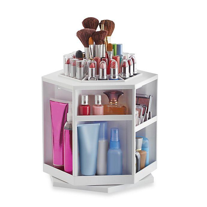 Alternate image 1 for Lori Greiner® Spinning Cosmetic Organizer in White