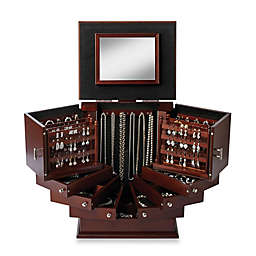 Lori Greiner® Deluxe Wood Jewelry Organizer in Walnut
