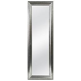 Better 53.5-Inch x 17.5-Inch Over-the-Door Mirror in Silver Double Bead