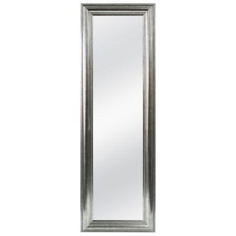 Better 53 5 Inch X 17 5 Inch Over The Door Mirror In Silver Double Bead