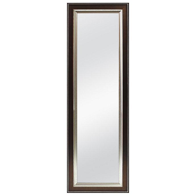 Alternate image 1 for Better 53.5-Inch x 17.5-Inch Over-the-Door Mirror in Bronze Bead