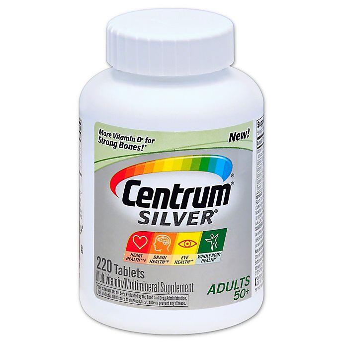 Alternate image 1 for Centrum® Silver® 220-Count Multivitamin/Multimineral Supplement Tablets