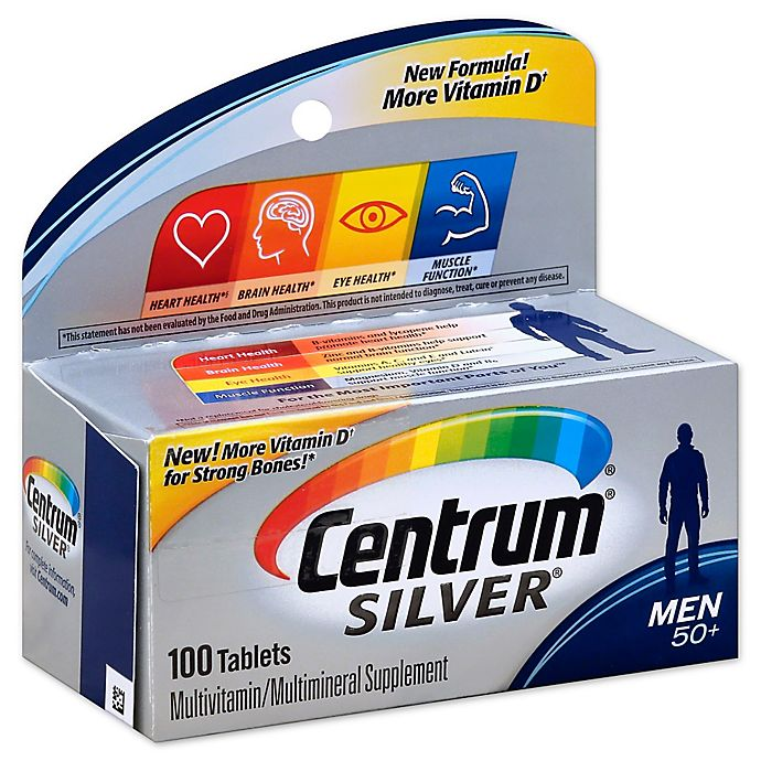 Alternate image 1 for Centrum® Silver® 100-Count Men 50+ Multivitamin/Multimineral Supplement Tablets