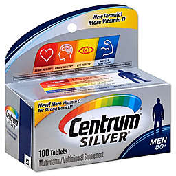 Centrum® Silver® 100-Count Men 50+ Multivitamin/Multimineral Supplement Tablets
