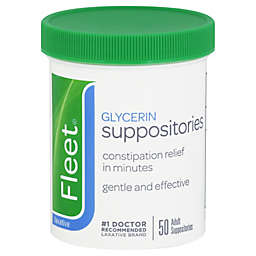 Fleet 50-Count Adult Glycerin Suppositories