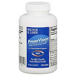 Bausch + Lomb PreserVision 240-Count Eye Vitamin + Mineral Supplement Tablets