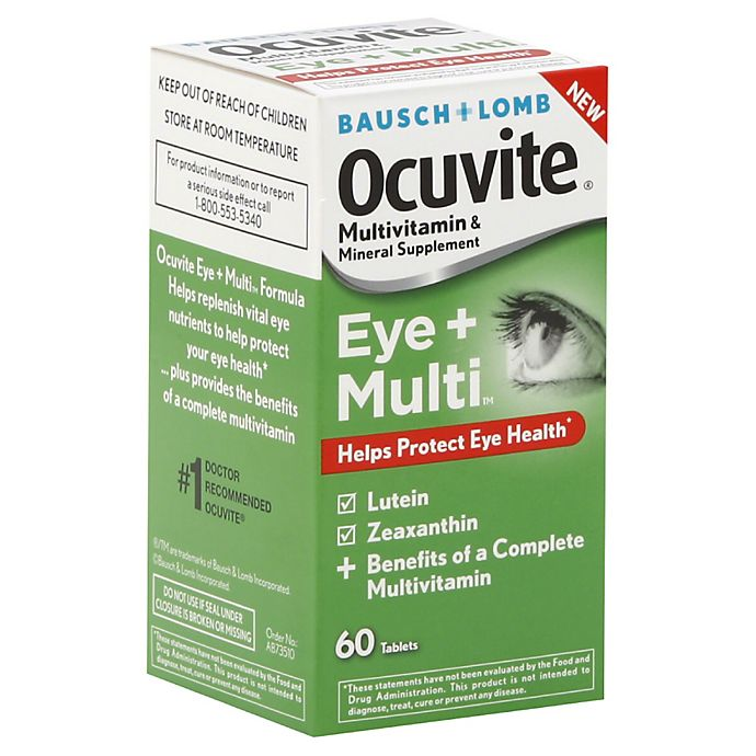 Alternate image 1 for Bausch + Lomb Ocuvite 60-Count Multi-Vitamin Tablets