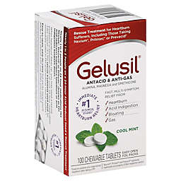 Gelusil Antacid & Anti-Gas 100-Count Chewable Tablets in Cool Mint Flavor