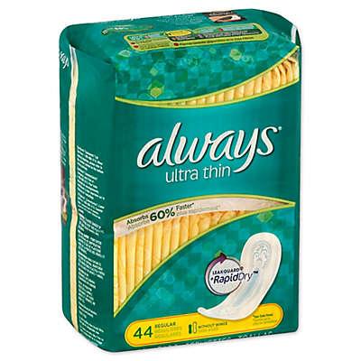 Always Ultra Thin 44-Count Regular Maxi Pads