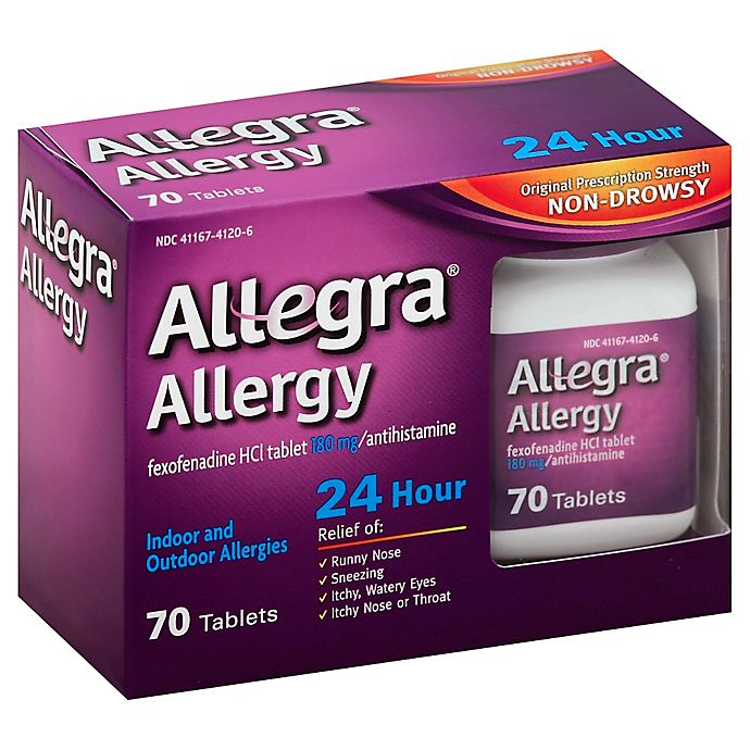 Alternate image 1 for Allegra® Allergy 24-Hour Relief 70-Count Tablets