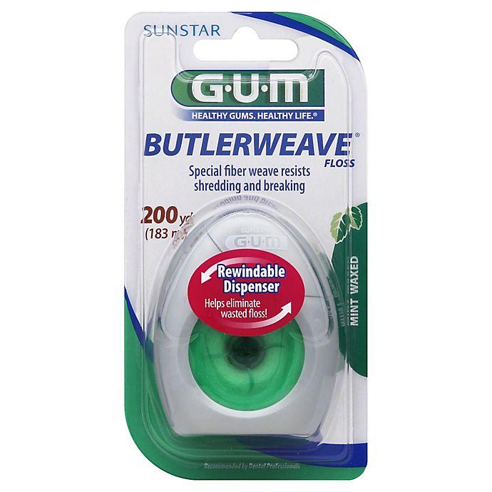 Alternate image 1 for Sunstar GUM® ButlerWeave Waxed Floss in Mint