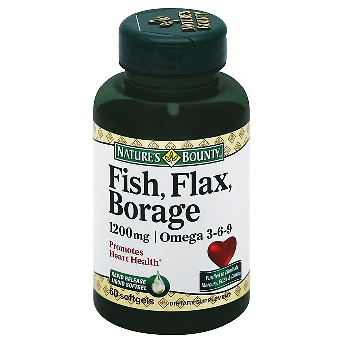 Alternate image 1 for Nature's Bounty 60-Count Fish Flax & Borage 1200 mg Softgels
