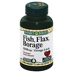 Nature's Bounty 60-Count Fish Flax & Borage 1200 mg Softgels