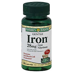 Nature's Bounty 90-Count Gentle Iron 28 mg Capsules