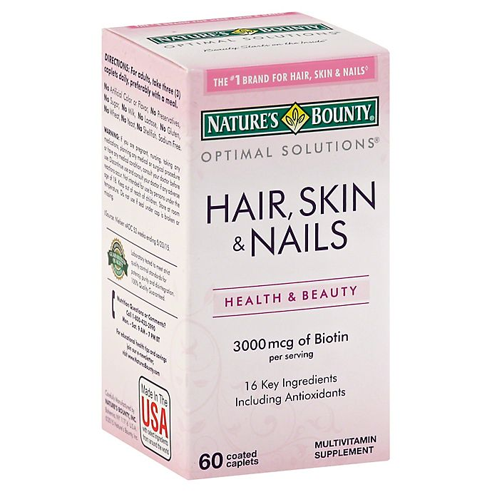 Nature S Bounty 60 Count Optimal Solutions Hair Skin