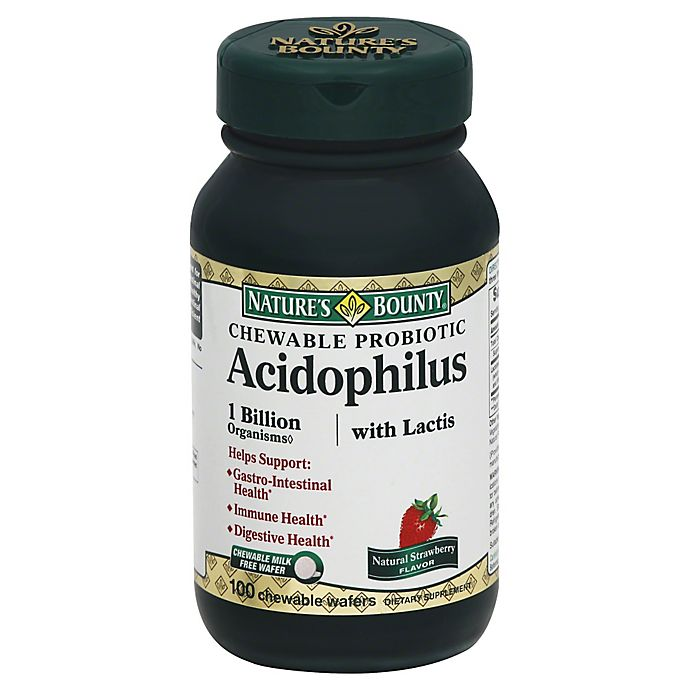 Alternate image 1 for Nature's Bounty 100-Count Strawberry Acidophilus Wafers