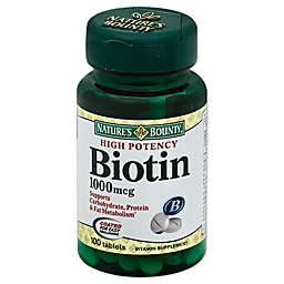 Nature's Bounty 100-Count Biotin 1000 mcg Tablets