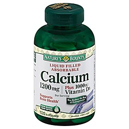 Nature's Bounty 100-Count Absorbable Calcium 1200 mg Plus 1000 IU Vitamin D Softgels