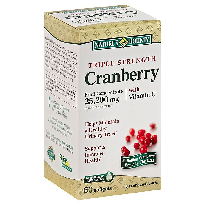 Alternate image 1 for Nature's Bounty 60-Count Triple Strength Cranberry Softgels