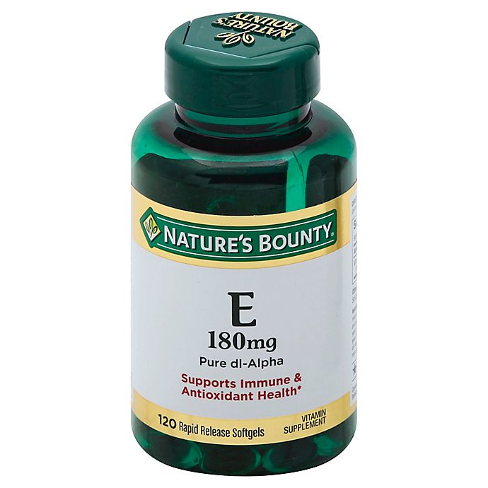 Alternate image 1 for Nature's Bounty 120-Count Vitamin E 180mg Pure dl- Alpha Softgels