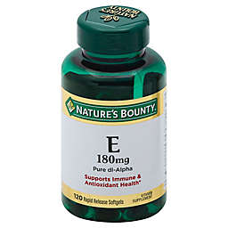Nature's Bounty 120-Count Vitamin E 180mg Pure dl- Alpha Softgels