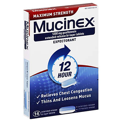 Mucinex® 12 Hour 14-Count Maximum Strength Expectorant Tablets