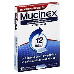 Mucinex® 12 Hour 14-Count Maximum Strength Expectorant Tablets