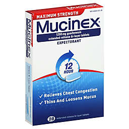 Mucinex® 28-Count 12 Hour Maximum Strength Expectorant Extended Release Bi-Layer Tablets