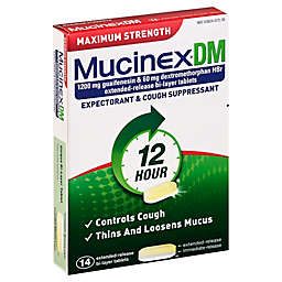 Mucinex® DM 14-Count Maximum Strength Expectorant and Cough Suppressant Tablets