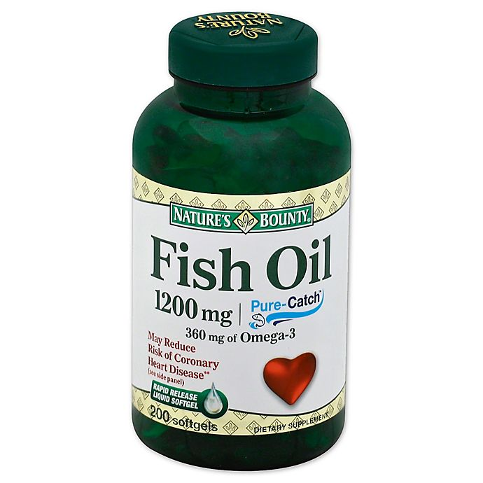 Alternate image 1 for Nature's Bounty 180-Count Fish Oil 1200mg Omega-3 Softgels
