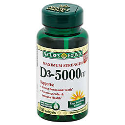 Nature's Bounty 100-Count Vitamin D 5000 IU Softgels
