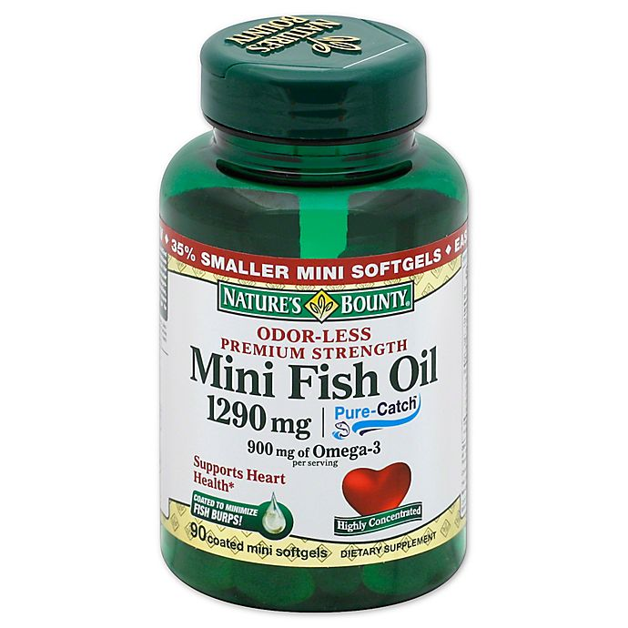 Nature's Bounty 90-Count Odorless Mini Fish Oil 1290 mg
