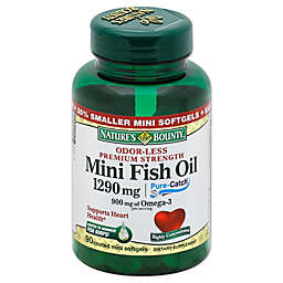 Nature's Bounty 90-Count Odorless Mini Fish Oil 1290 mg Softgels