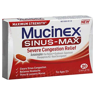 Mucinex® Sinus-Max™ Severe Congestion Relief 20-Count Caplets