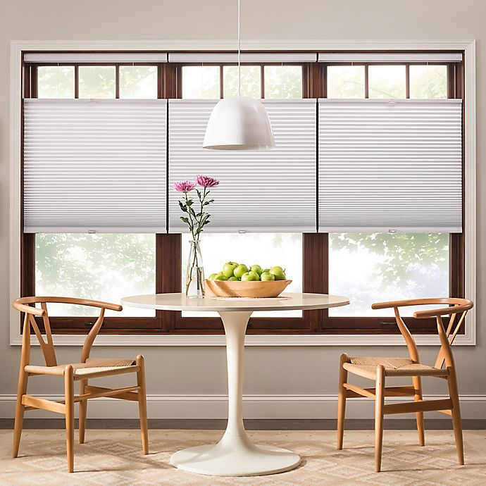Alternate image 1 for Real Simple® Top-Down Bottom-Up Cordless Cellular 43-Inch x 72-Inch Shade in White