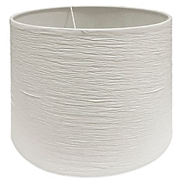 Small 10-Inch Crinkle Paper Drum Lamp Shade in Soft White