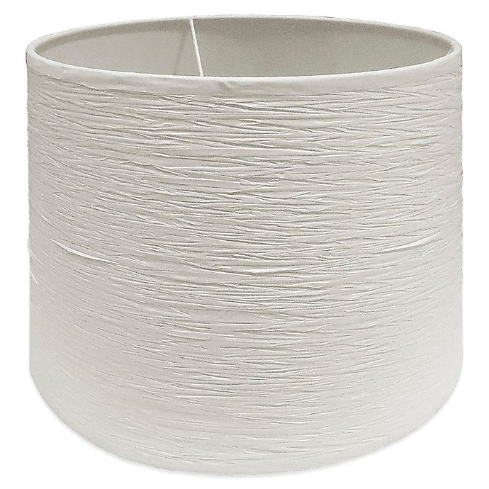 Alternate image 1 for Small 10-Inch Crinkle Paper Drum Lamp Shade in Soft White