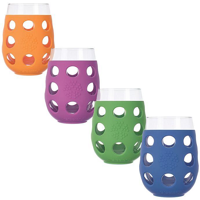 Alternate image 1 for Lifefactory® 17 oz. Wine Glasses (Set of 2)