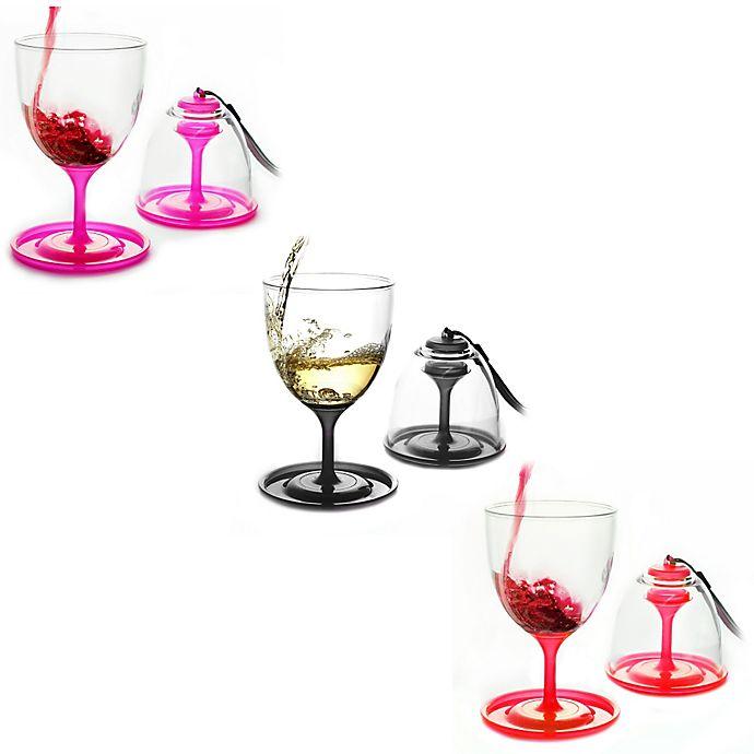 Alternate image 1 for Stackable Vino Wine Glasses (Set of 2)
