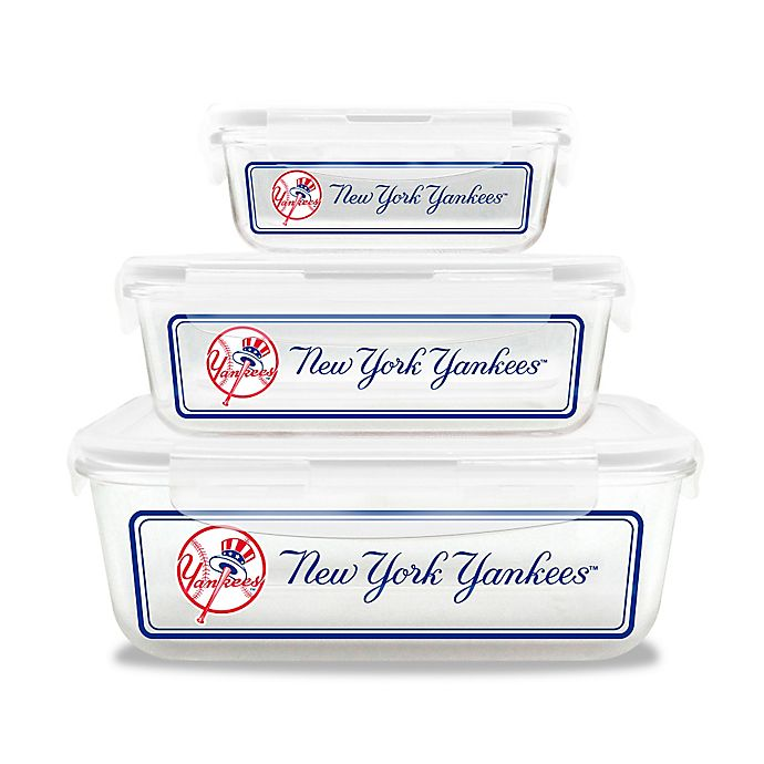 Alternate image 1 for MLB 6-Piece Glass Food Container Collection Set