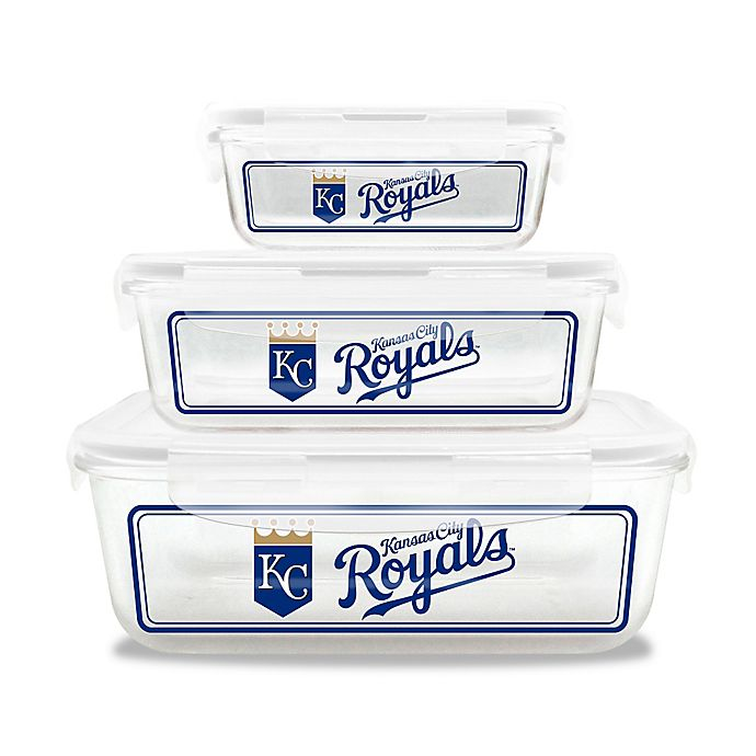 Alternate image 1 for MLB Kansas City Royals 6-Piece Glass Food Container Set