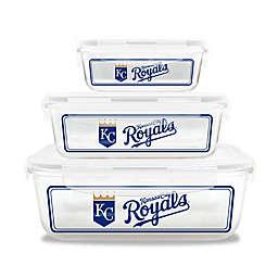 MLB Kansas City Royals 6-Piece Glass Food Container Set