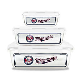 MLB Minnesota Twins 6-Piece Glass Food Container Set