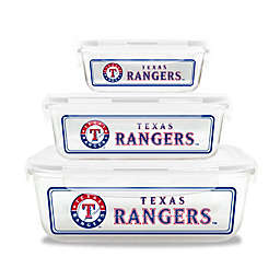 MLB Texas Rangers 6-Piece Glass Food Container Set
