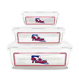 MLB Philadelphia Phillies 6-Piece Glass Food Container Set
