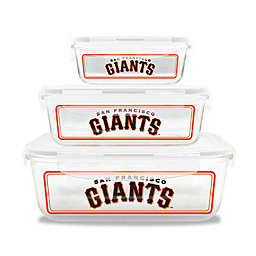 MLB San Francisco Giants 6-Piece Glass Food Container Set