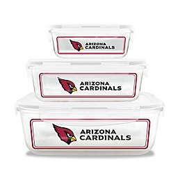 NFL Arizona Cardinals 6-Piece Glass Food Container Set