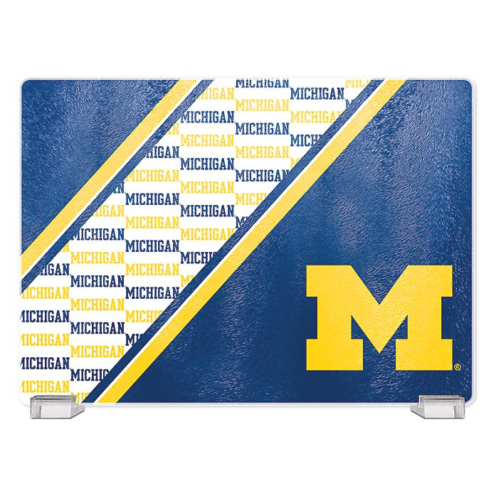 Alternate image 1 for University of Michigan Tempered Glass Cutting Board