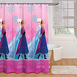 Disney® Frozen Snowflakes Fabric Shower Curtain